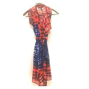 BCBG sleeveless wrap dress